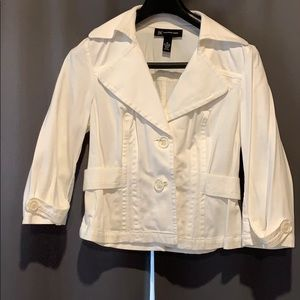 nc International Concepts Women White Jacket M